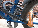 Frame and rear wheel of bicycle locked together with U-lock